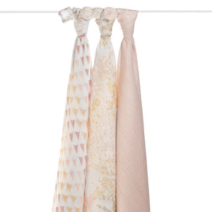 aden + anais metallic primrose birch swaddles
