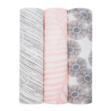 Load image into Gallery viewer, aden + anais island getaway bamboo 3 pack muslin swaddles