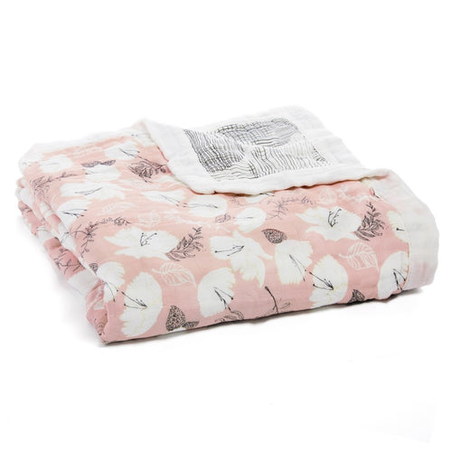 aden + anais pretty petals silky soft bamboo dream blanket