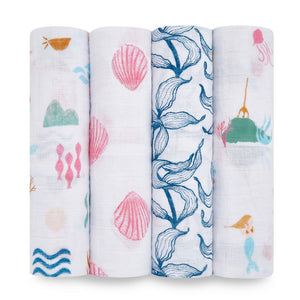 aden + anais salty kisses 4 pack swaddles