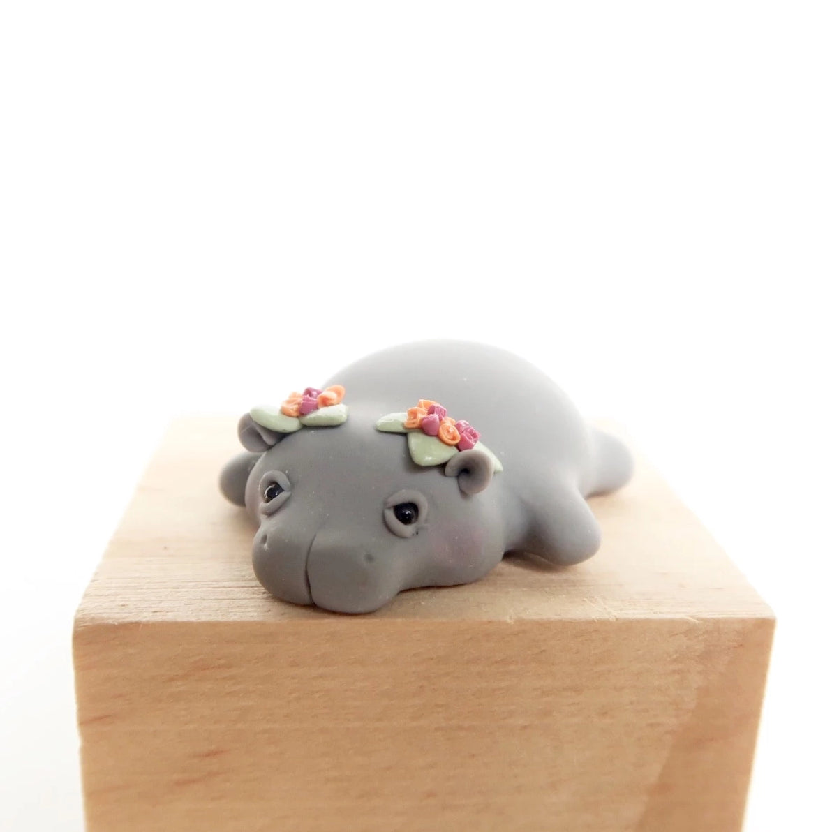 Floral baby hippo