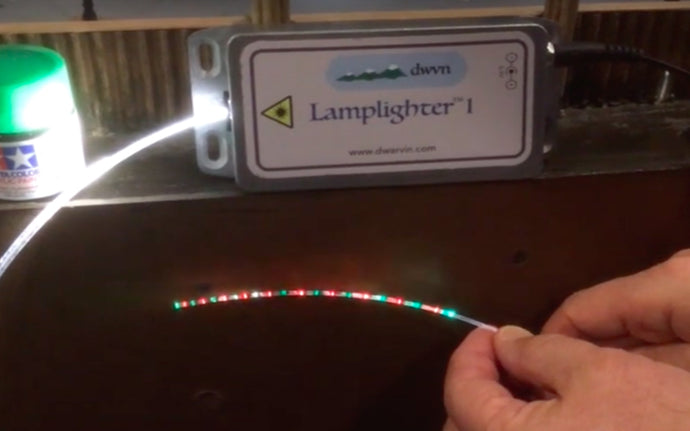 Christmas Craft Light on train layout in minutes using Fiber Optics