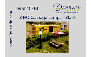 HO Carriage lamp label