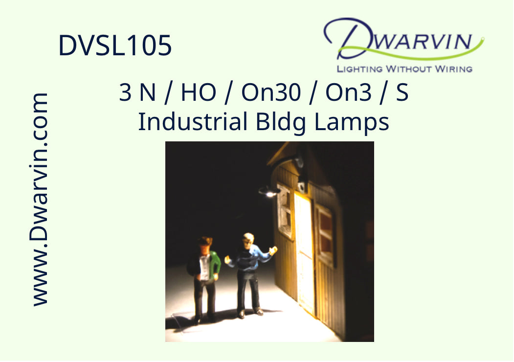 N / HO / On30 / On3 / S Industrial Bldg. Lamps label