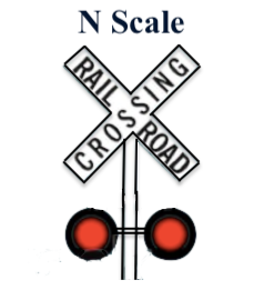 N Scale RailRoad Crossing