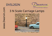 N Scale Carriage Lamp Set