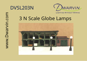 N Scale Globe Lamp Set