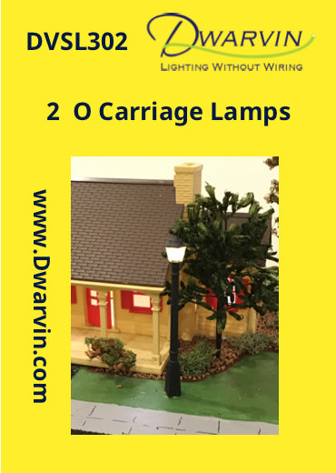 O Scale Carriage Lamps label