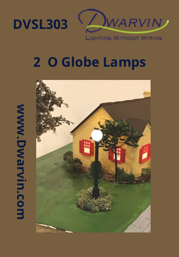O Scale Globe Lamps label