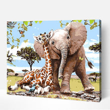 Load image into Gallery viewer, Elephant and Giraffe - Just Paint By Numbers