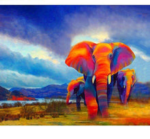 Load image into Gallery viewer, Colorful Elephants