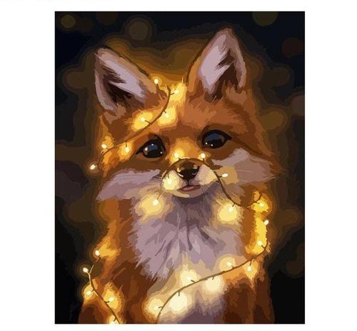 Fox in lights - Just Paint By Numbers