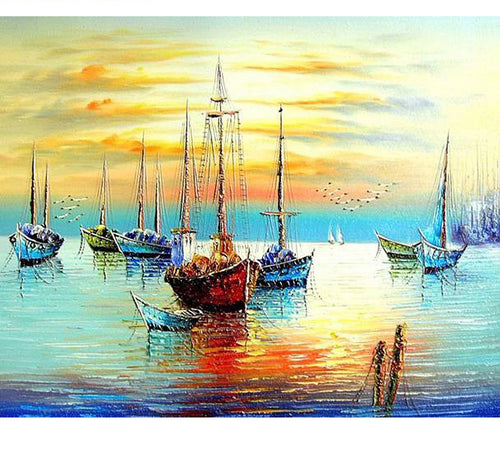 Sailing Boats - Just Paint By Numbers