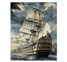 Load image into Gallery viewer, Sailing Boat - Just Paint By Numbers