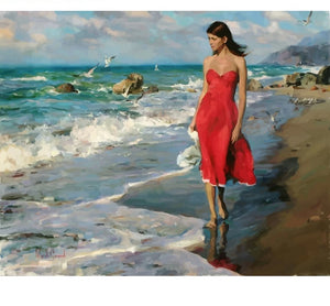 Seaside Girl - Just Paint By Numbers