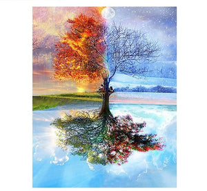 Four Seasons Tree - Just Paint By Numbers