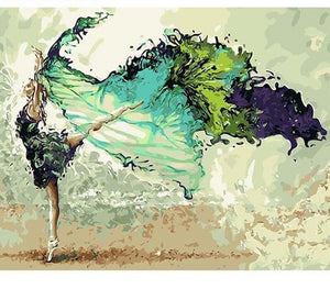Green Ballerina - Just Paint By Numbers
