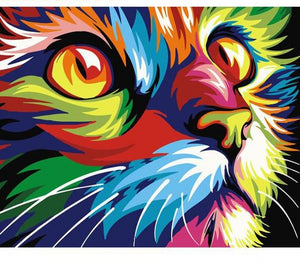 Multicolor Cat - Just Paint By Numbers