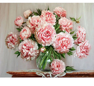 Peonies flowers - Just Paint By Numbers