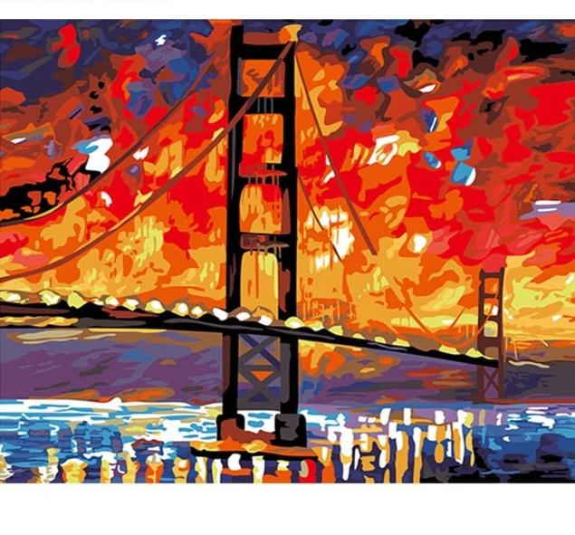 Golden Gate Bridge - Just Paint By Numbers
