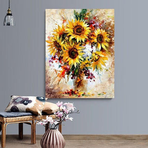 Sunflower Paint by Number