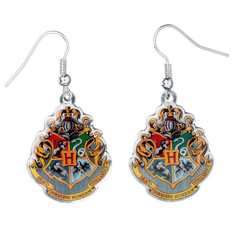 Brincos Hogwarts Crest Harry Potter