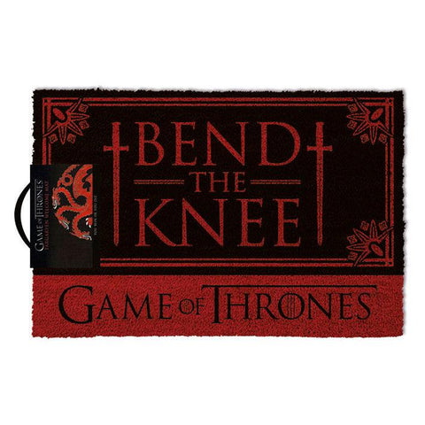 Tapete Bend the knee Guerra dos Tronos