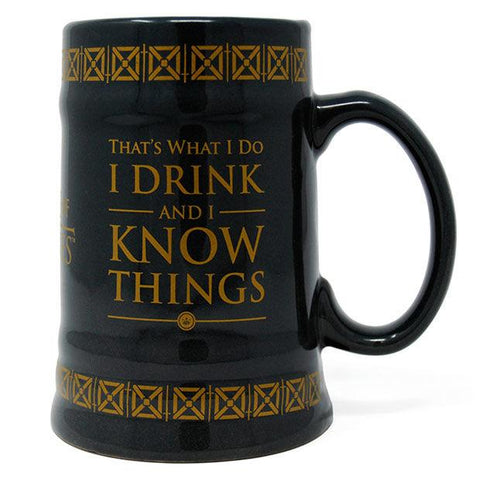 Caneca Drink & Know Things Guerra dos Tronos