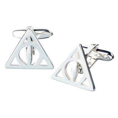 Botões de Punho Deathly Hallows Harry Potter