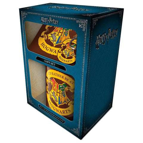 Pack oferta caneca e porta-chaves Hogwarts Harry Potter