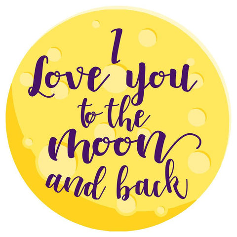 Toalha redonda I Love You To The Moon And Back microfibra