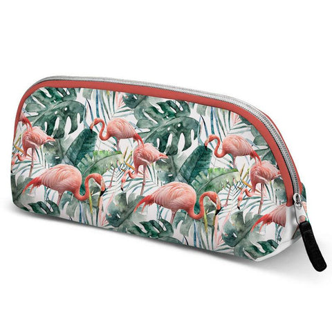 Bolsa Necessaire Oh My Pop Tropical Flamingo