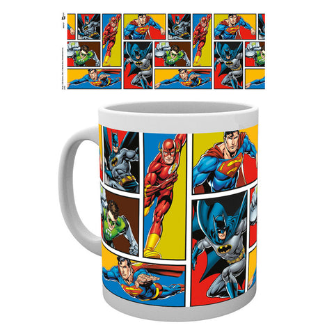Caneca Justice League Grid DC