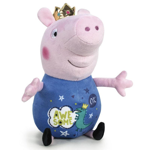 Peluche George Peppa Pig Its Magic Coroa 45cm