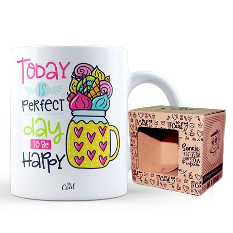 Caneca Today is Perfect Day to Be Happy