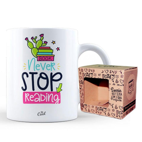 Caneca Book Never Stop Reading
