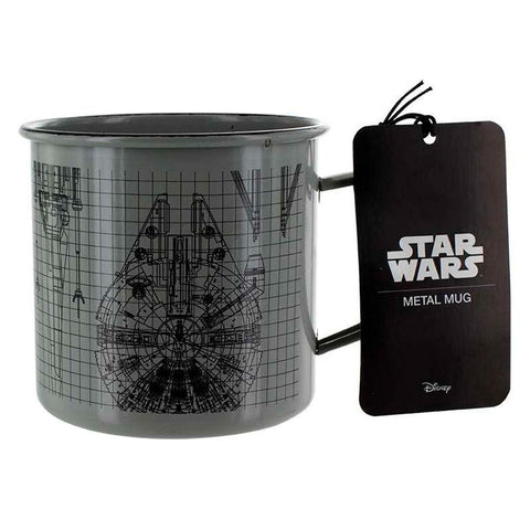 Caneca Metalica Naves Galacticas Star Wars