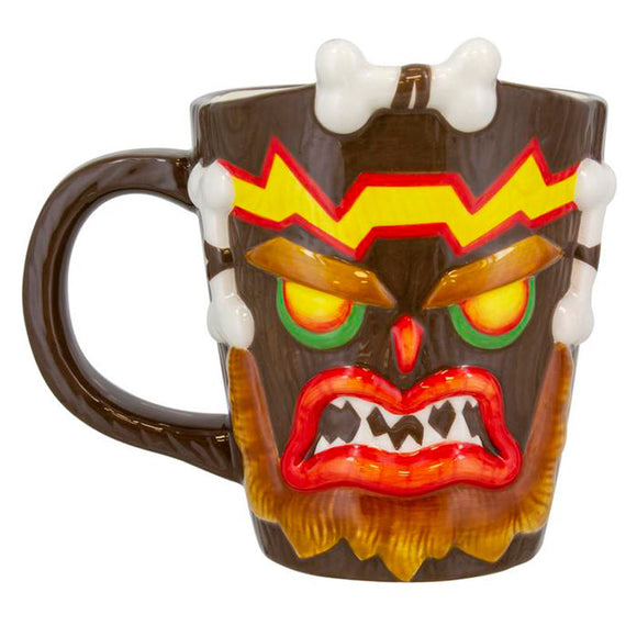 Caneca 3D Uka Uka Crash Bandicoot