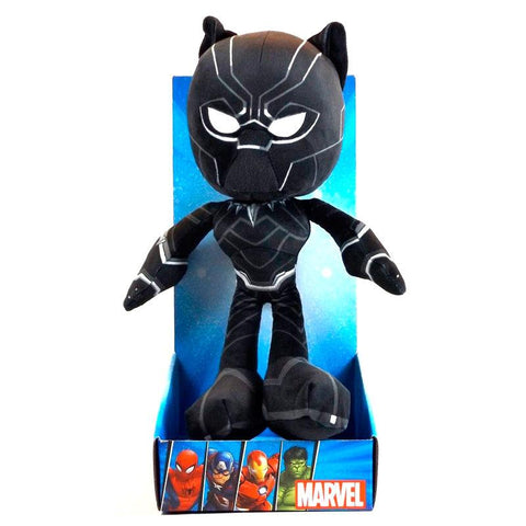 Peluche Action Black Panther Vingadores Avengers Marvel 25cm
