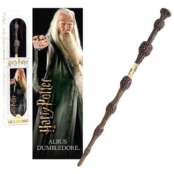 Varinha + marcador 3D Dumbledore Harry Potter