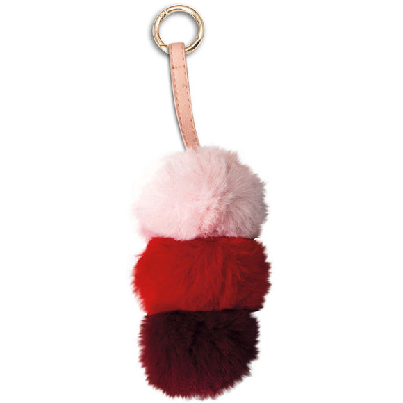 Porta-Chaves peluche Pompon rosa