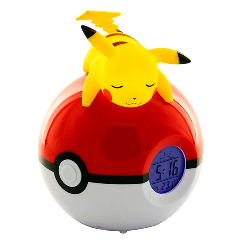 Candeeiro despertador Led Pikachu Pokeball Pokemon