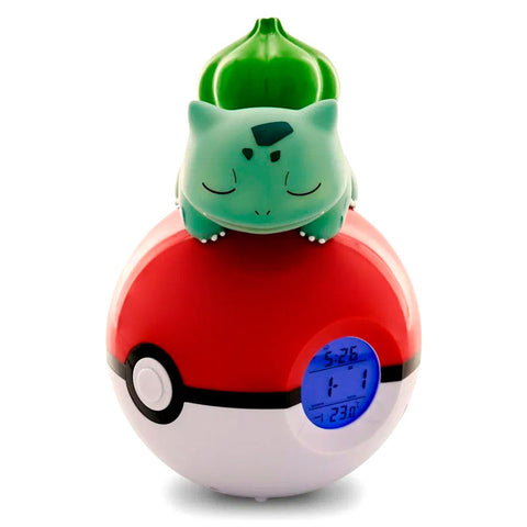 Candeeiro despertador Led Bulbasaur Pokeball Pokemon