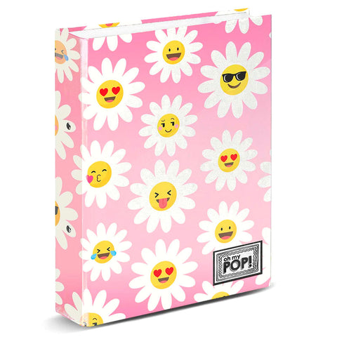 Dossier A4 Oh My Pop Happy Flower argolas