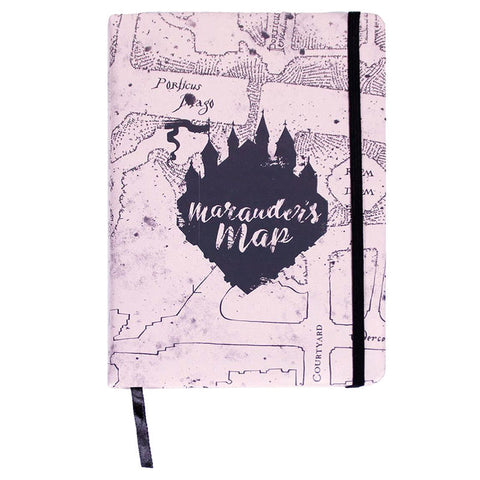 Caderno A5 premium Marauders Map Harry Potter