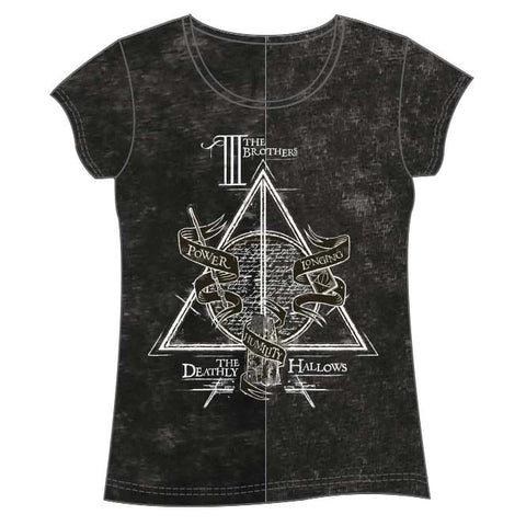 T-Shirt Deathly Hallows Harry Potter adulto mulher