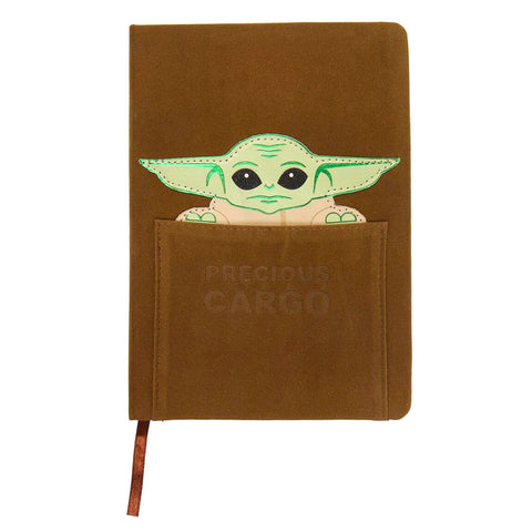 Caderno A5 couro sintético Yoda Child The Mandalorian Star Wars