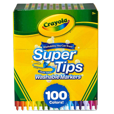 Blister 100 Marcadores Crayola Super Tips