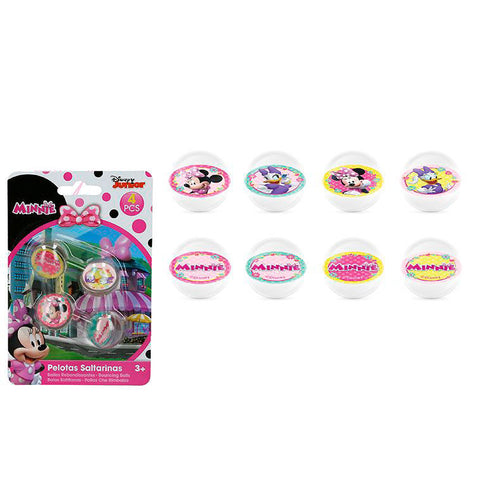 Blister 4 bolas bouncy Minnie Disney sortidas