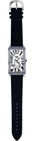 Relógio Black Leather Hello Kitty Diamond Collection Sanrio